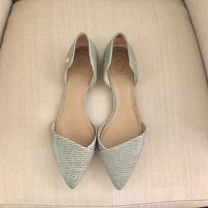 Tory Burch D'Orsay Pointed Toe Flats